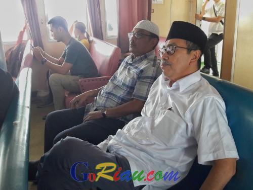 Ada yang Mencuri Perhatian Gubri Syamsuar Saat Perjalanan dari Pekanbaru ke Pulau Bengkalis