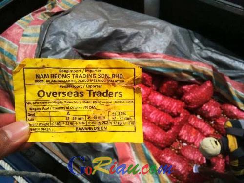 KPPBC Dumai Semakin Ganas, Selama Dua Pekan Berhasil Gagalkan Penyelundupan 29 Ton Bawang Merah Ilegal dari Malaysia