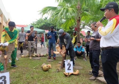 Milad ke-54 Inhil, Dinas Perkim Gelar Tanding Gasing, Tarik Tambang dan Menyolak Kelapa