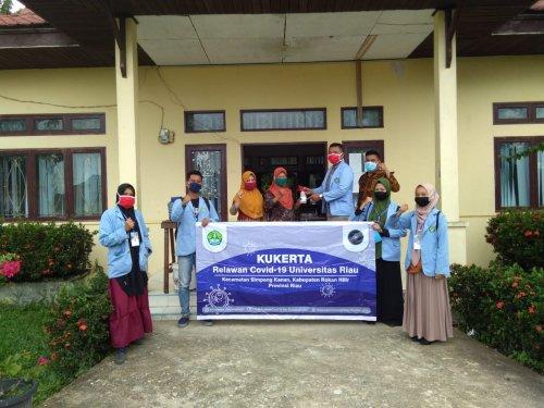 Tim Kukerta Unri Sosialisasikan Protokol Kesehatan New Normal di Posyandu Melati Simpang Kanan Rohil