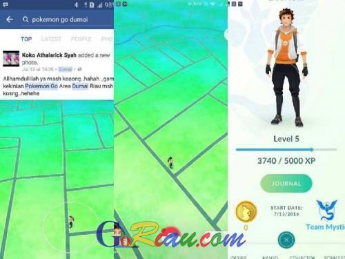 Ternyata, Warga Dumai di Riau Mulai Main Pokemon Go