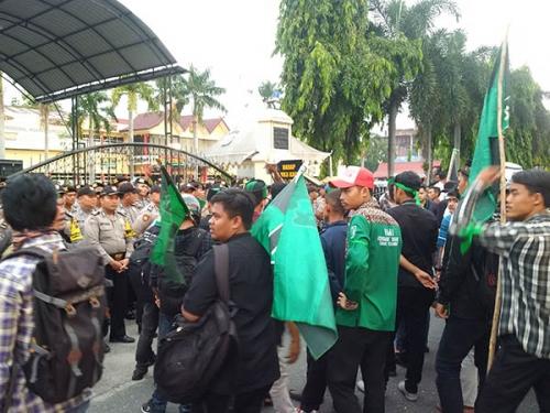 Unjuk Rasa di Polda Riau, Surat Pernyataan Sikap HMI akan Disampaikan ke Mabes Polri