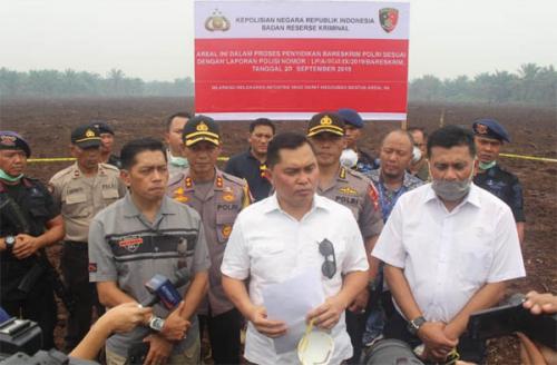 Buktikan Janji, Bareskrim Mabes Polri Lakukan Penyelidikan Terhadap Lahan PT Adei Plantation yang Terbakar di Pelalawan