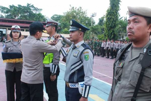 Apel Gelar Pasukan Operasi Lilin Muara Takus, Dasmin Ginting: Kita Siap Memberikan Pelayanan dan Pengamanan