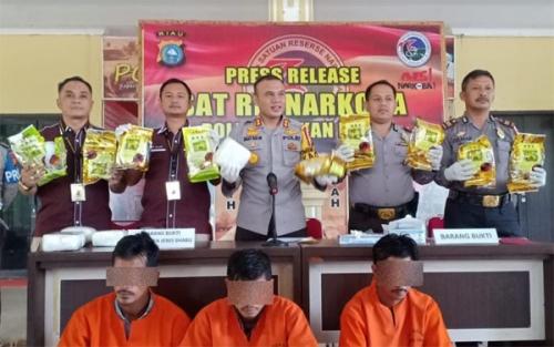 Ini Kronologis Penangkapan Pelaku Pembawa 15 Kg Sabu Asal Malaysia di Rohil