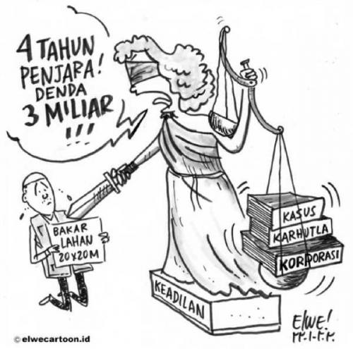 Bakar Lahan 20x20 Meter, Syarifudin Dituntut 4 Tahun Penjara dan Denda Rp3 Miliar, Masyarakat Peduli Lingkungan Sebut Penegak Hukum Menyiksa Rakyat Kecil