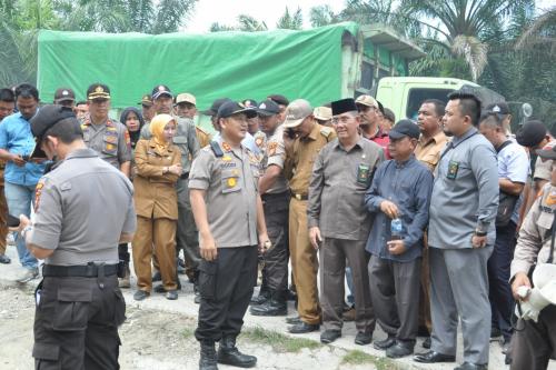 Eksekusi Pembebasan Lahan Jalan Tol Pekanbaru - Dumai di Wilayah Kandis Berjalan Lancar