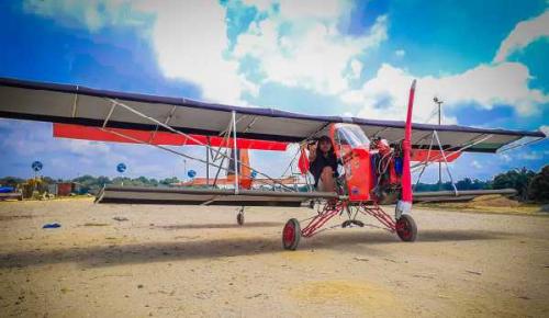 Bermodal Rp40 Juta, Montir di Pelalawan Sukses Buat dan Terbangkan Pesawat Mini
