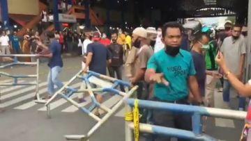 Pedagang Payakumbuh Marabo dan Bongkar Blokade Masuk Pasar, Kapolres Sebut Salah Paham