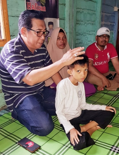 Sekda Janji Pemkab Meranti akan Fasilitasi Biaya Pengobatan Hafizan Kholil