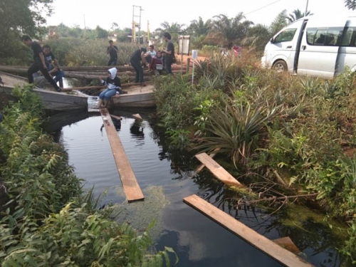 Desa Penyengat Kabupaten Siak Rasakan Manfaat Sekat Kanal
