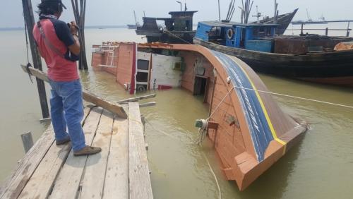 Kapal Bernilai Miliaran Rupiah Milik Pemkab Meranti Akhirnya Bocor dan Rusak