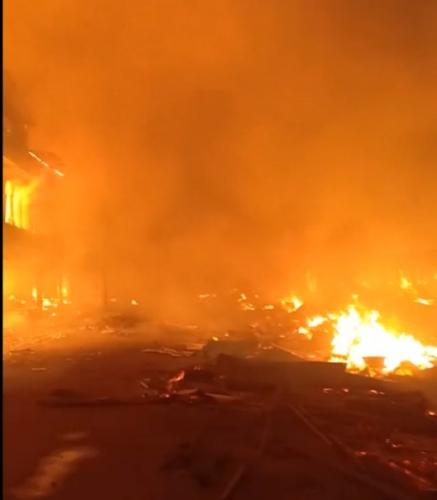 Kebakaran Hebat Landa Tembilahan, Pasar Terapung dan Pasar Rakyat Terbakar