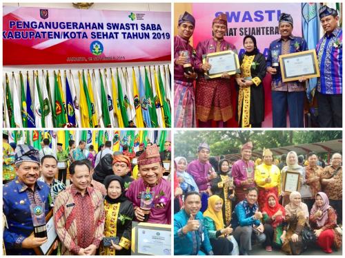 3 Kabupaten dan Kota di Riau Terima Penghargaan Swasti Saba KKS Tahun 2019