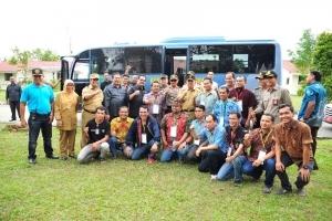 Plt Gubri Tinjau Pilkada Serentak di Kabupaten Bengkalis, Rohul, Rohil dan Kota Dumai