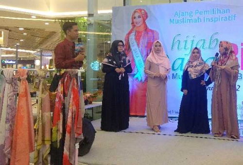 Le Noiir Launching Hijab Bercorak 3D Autumn Le Series di Pekanbaru