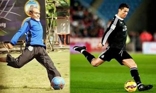 Pimpinan Gontor KH Hasan Komentari Meme Dirinya dengan Ronaldo
