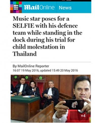 Selfie Saat Sidang di Pengadilan, Saipul Jamil Jadi Sorotan Media Inggris