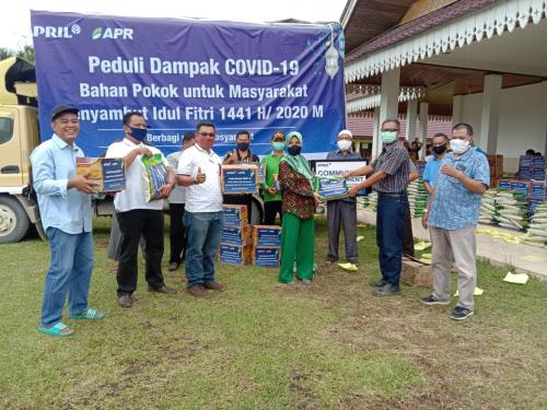 RAPP dan APR Salurkan 2.516 Paket Bahan Pokok di Kuansing