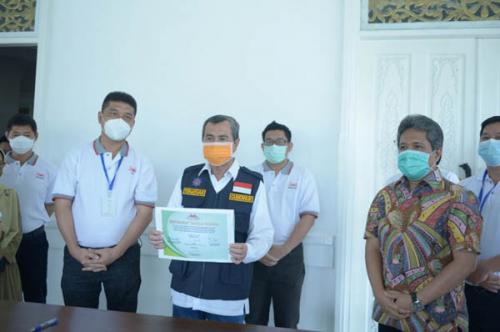 Pemprov Riau Terima 2 Unit Incinerator Limbah Infeksius dari Relawan Peduli RS Awal Bros Group