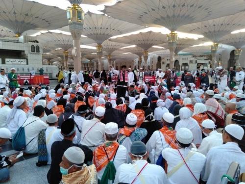 JCH Bengkalis Kloter 10 Tinggalkan Madinah Menuju Makkah