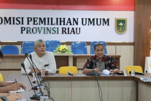 KPU Riau Gelar Rakor dengan Tiga Kabupaten yang akan Hadapi Sidang PHPU di MK