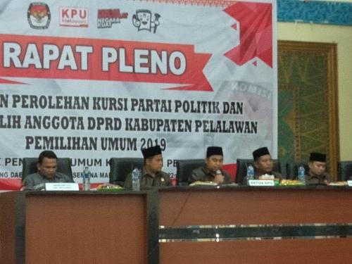 6 Kabupaten di Riau Selesaikan Rapat Pleno Penetapan Perolehan Kursi dan Caleg Terpilih