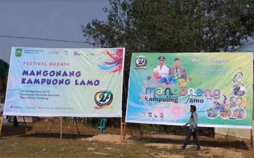 Besok, Ribuan Orang Diprediksi Banjiri Festival Mangonang Kampuong Lamo di Pulau Gadang Kampar