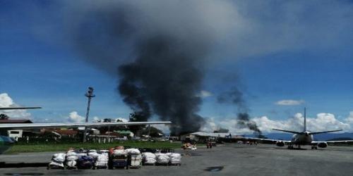 Demo Rusuh, Semua Pesawat di Bandara Wamena Diterbangkan