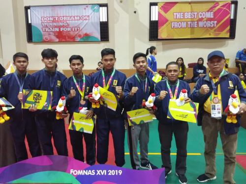 Tim Sepak Takraw Unilak Raih Medali Perunggu pada Ajang Pomnas XVI 2019 di Jakarta