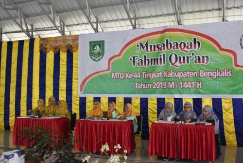 LPTQ dan Kecamatan Bengkalis Dominasi Cabang Fahmil Quran MTQ Kabupaten