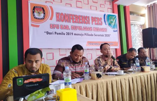 Jelang Pilkada 2020, KPU Kepulauan Meranti Gelar Konferensi Pers