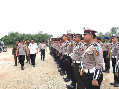 Polres Kepulauan Meranti Laksanakan Apel Gelar Pasukan Operasi Zebra Muara Takus 2019