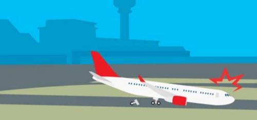 Rem Blong... Pesawat Tergelincir dan Menabrak Pagar Bandara