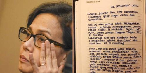 Beredar di Medsos... Ini Isi Surat Curhat Kekecewaan Menkeu Sri Mulyani