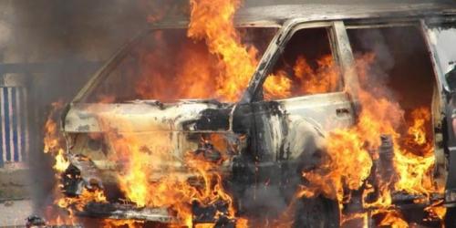 Sedang Nyetir, Tiba-tiba Mobil Ketua PWI Cianjur Terbakar