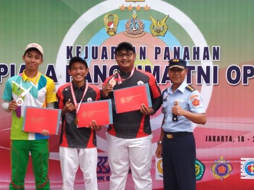 Atlit Perpani Siak Raih 3 Medali dari Panglima TNI Open 2019