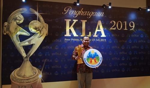 Bupati Kepulauan Meranti Terima Penghargaan KLA 2019