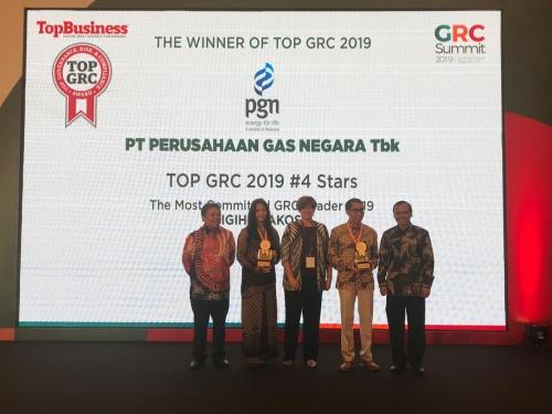 PGN Raih Dua Penghargaan TOP GRC 2019