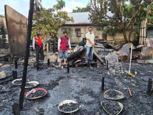 4 Rumah di Inhil Terbakar, 3 Orang Tewas Termasuk Balita