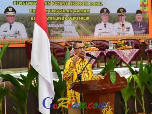 Buka Seminar Nasional di Tembilahan, Gubri Syamsuar: Harga Kelapa di Inhil Harus Bangkit