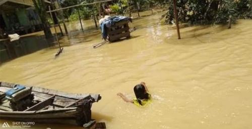 Sahilan Darussalam Kembali Dilanda Banjir, Ratusan Rumah Terendam, Warga tak Lagi Terkejut