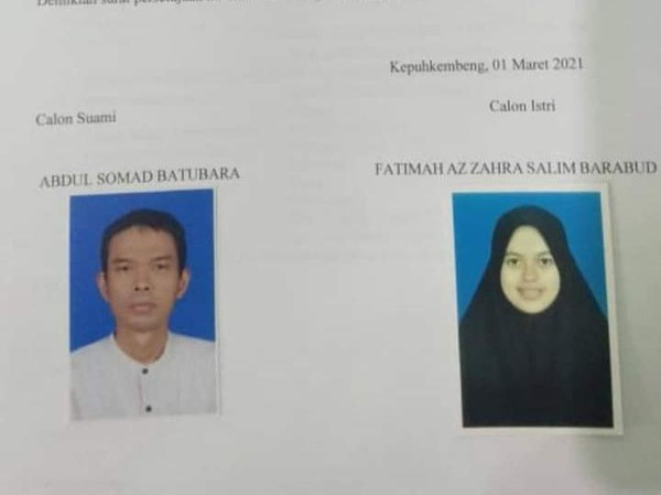 Ini Sosok Calon Istri UAS, Fatimah Az Zahra Salim Barabud
