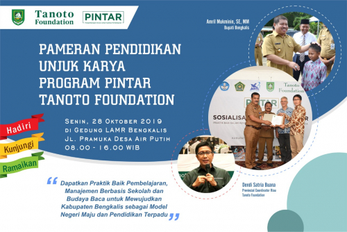 Tanoto Foundation Gelar Pameran Program PINTAR di Bengkalis