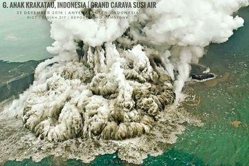 Letusan Gunung Krakatau 1883 Setara 21.648 Ledakan Bom Atom, Renggut 36.000 Jiwa