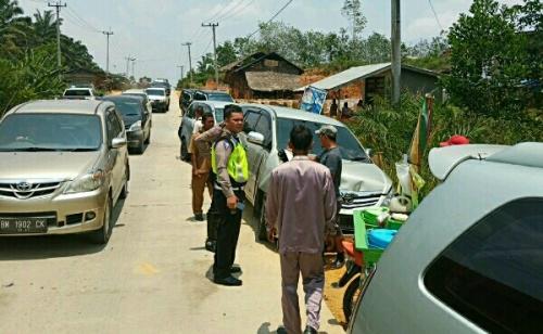 Rem Blong, Truk Colt Diesel Tabrak 7 Mobil di Jalintim Pelalawan