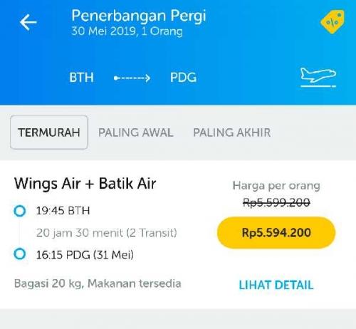 Harga Tiket Menuju Padang Mencapai Rp 5 Juta, Pemudik Asal Batam Diprediksi Banyak Singgah di Dumai