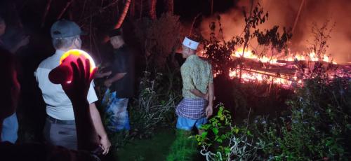 Ditinggal Pergi Berkunjung Lebaran, Rumah Papan Milik Warga Rangsang Barat Ini Ludes Dilahap Api