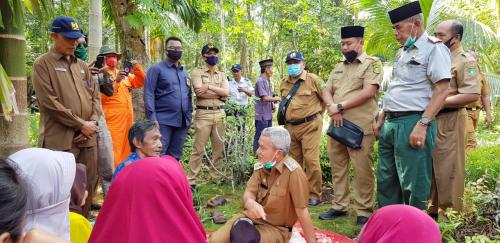 Rombongan Wabup Said Hasyim Kunjungi Korban Kebakaran di Rangsang Barat