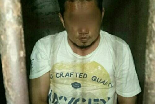 Terekam CCTV saat Beraksi, Pencuri Rokok di Sorek Pelalawan Tak Berdaya Dibekuk